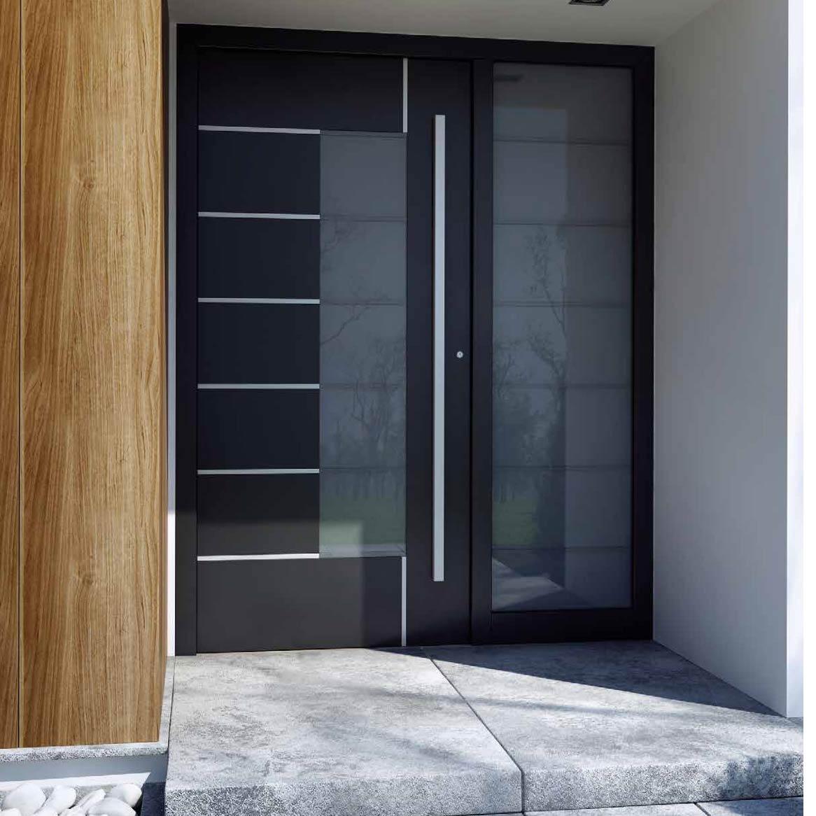 Eingangstür aus Aluminium